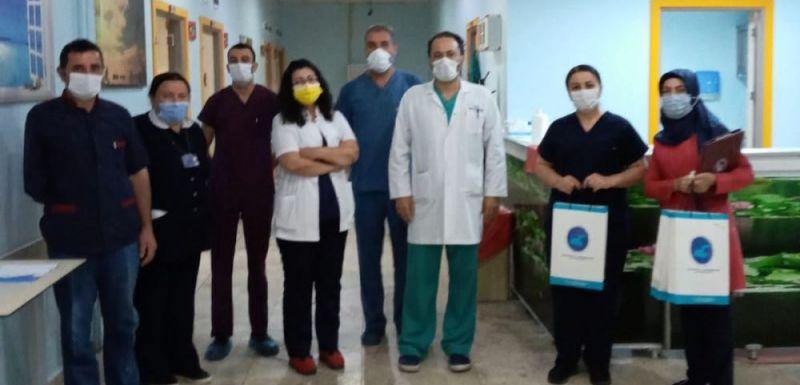 Covid Kliniklerinde Çalışanlara Motivasyon Ziyareti